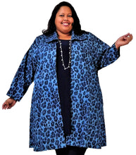 Load image into Gallery viewer, Denim Animal Print Plus Size Jacket