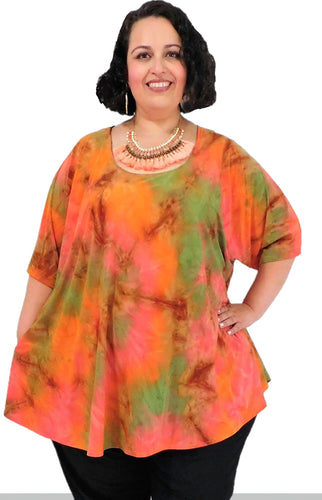 Plus Size Burnt Sienna Top