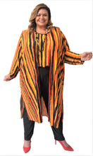 Load image into Gallery viewer, Fabulous Stripe Duster Coat