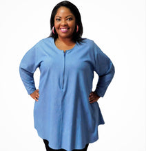 Load image into Gallery viewer, Plus Size Denim Top