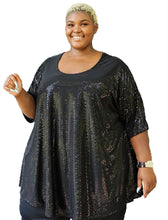Load image into Gallery viewer, Dazzling Plus Size Sequin Top