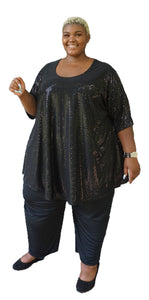 Dazzling Plus Size Sequin Top