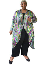 Load image into Gallery viewer, Luxe Stripe Silky Duster