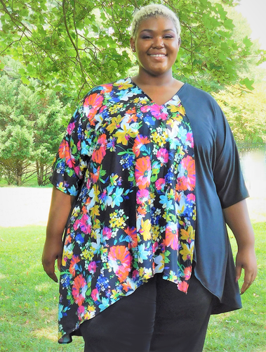 Pretty High-Low Plus Size Top