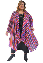 Load image into Gallery viewer, Stripe Plus Size Duster