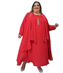 Plus Size Red Dress Set