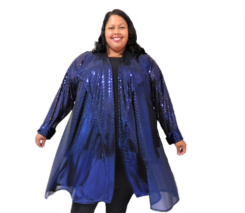 Plus Size Sequin Duster
