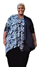 Load image into Gallery viewer, Draped High Low Plus Size Top