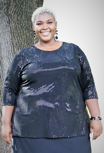 Sequin Plus Size Top