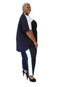 Side Stripe Plus Size Pants