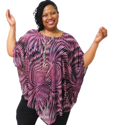 Crepe Print Plus Size Tunic Top