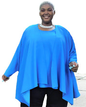 Load image into Gallery viewer, Turquoise Draped Front Duster