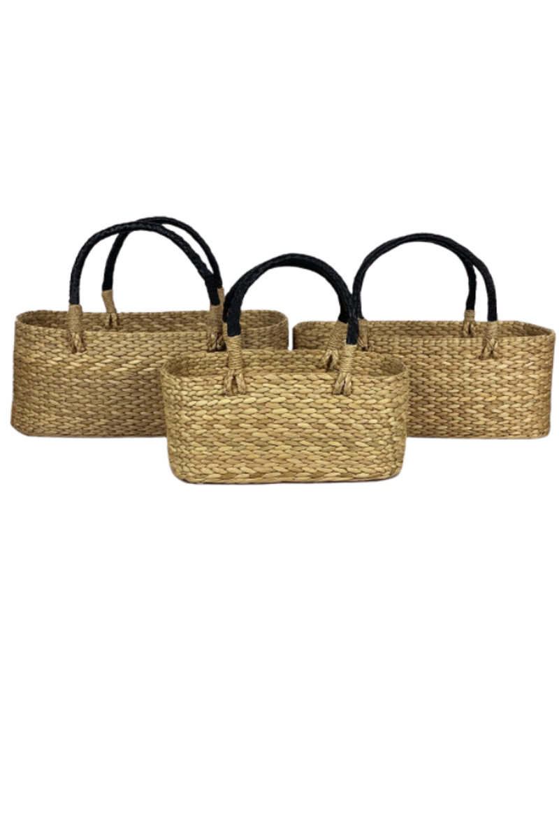 Leather Handle Seagrass Basket