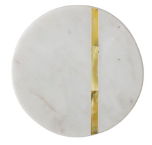 Load image into Gallery viewer, Brass Marble Coasters