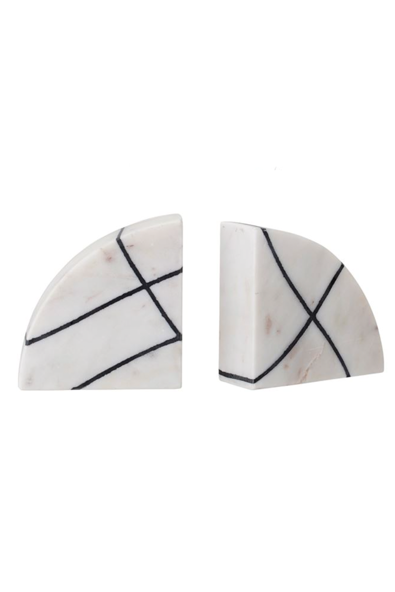 Grid Marble Bookends
