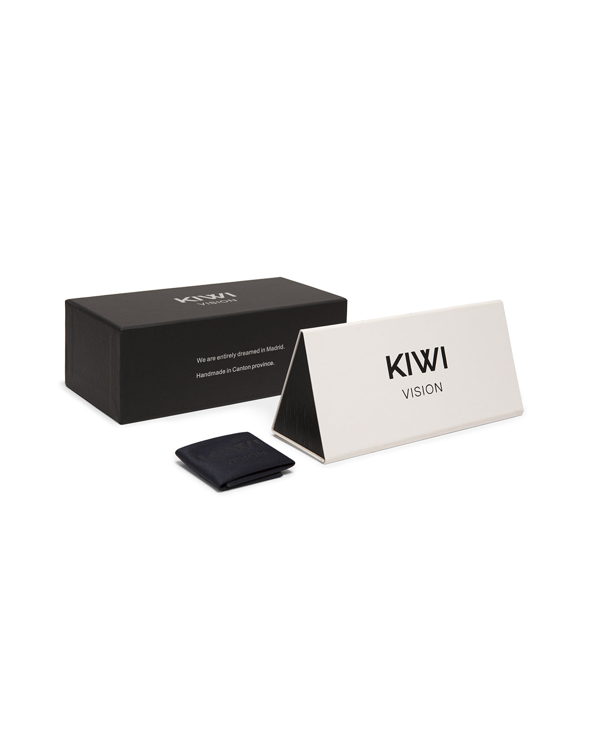Kiwivision eyewear packaging, sunglasses