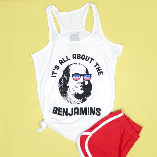 All About The Benjamins Adult Women's Racerback Tank