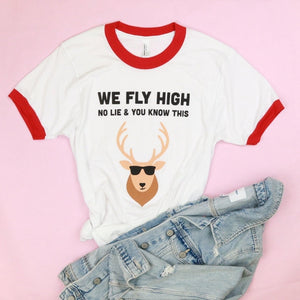 We Fly High Adult Unisex Ringer Tee