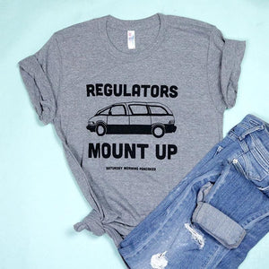 Regulators Mount Up Minivan Adult Unisex Tee