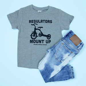 Regulators Mount Up Kids Tee - Grey