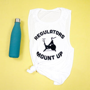 Regulators Mount Up Spin Cycle Women's Flowy Scoop Muscle Tank
