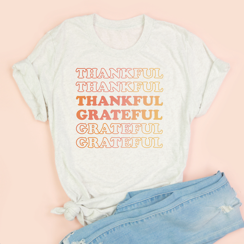 Thankful Grateful Adult Unisex Tee