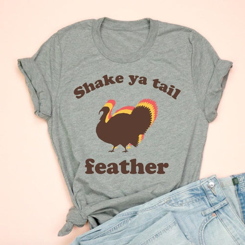 Shake Ya Tail Feather Grey Adult Unisex Tee
