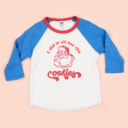 I Did It All For The Cookies Kids Unisex Raglan