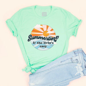 Summertime - Mint Adult Unisex Tee