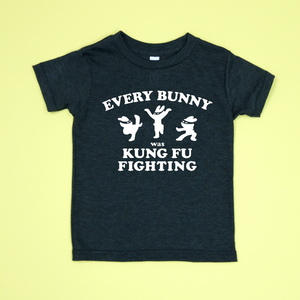 Every Bunny Was Kung Fu Fighting Unisex Kids Tee