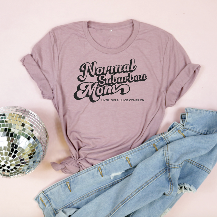 Normal Suburban Mom Adult Unisex Tee-Orchid