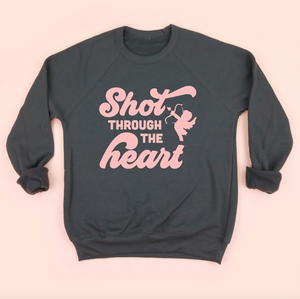 Shot Through the Heart Adult Unisex Sweatshirt
