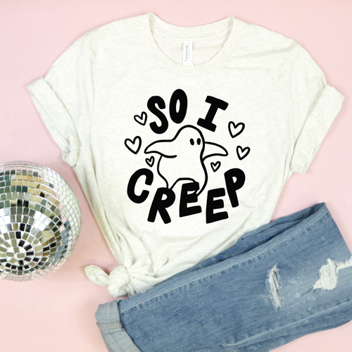 So I Creep Ghost Adult Unisex Tee