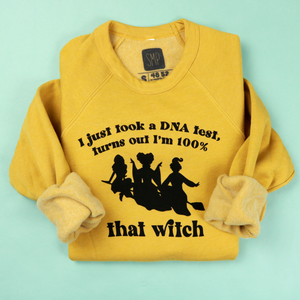 100% That Witch Adult Unisex Sweatshirt Mustard