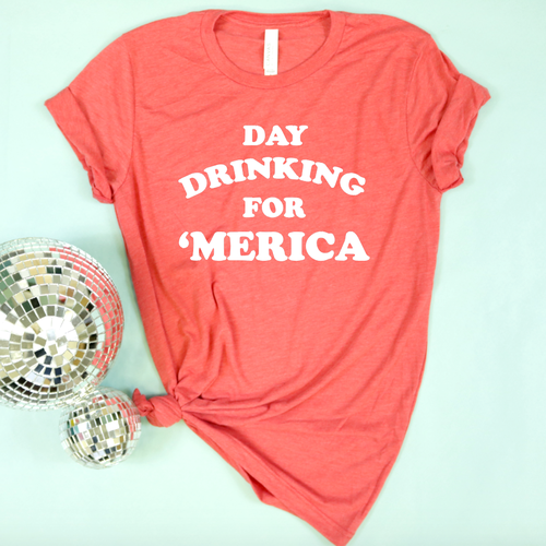 Day Drinking for 'Merica Adult Unisex Tee