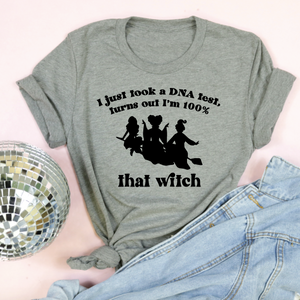 100% That Witch Adult Unisex Tee Grey