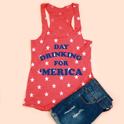 Day Drinking for 'Merica Women's Tank