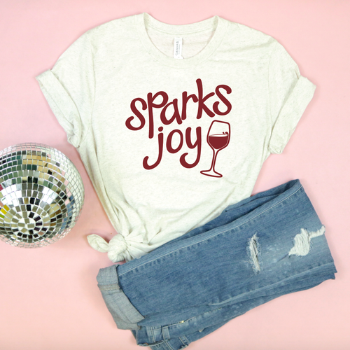 Valentine's Day T-Shirts - Sparks Joy - Adult Unisex Tee