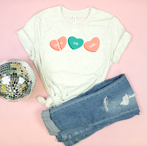 Valentine's Day T-Shirts - Not UR GRL - Adult Tee
