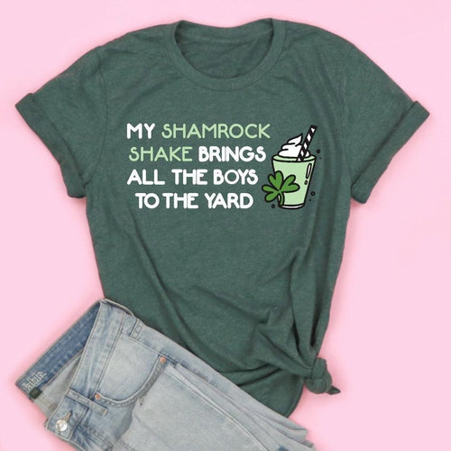 My Shamrock Shake Brings The Boys To The Yard Adult Unisex Tee