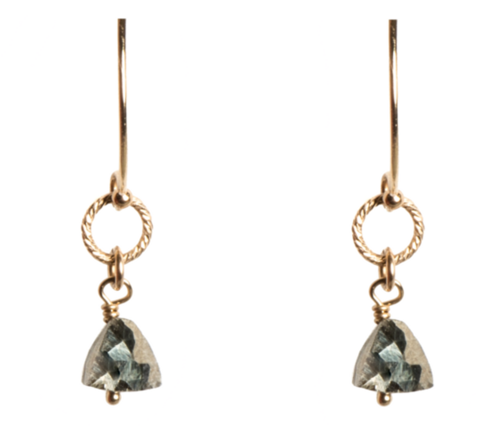 Alexis Earrings-14K GF/Pyrite