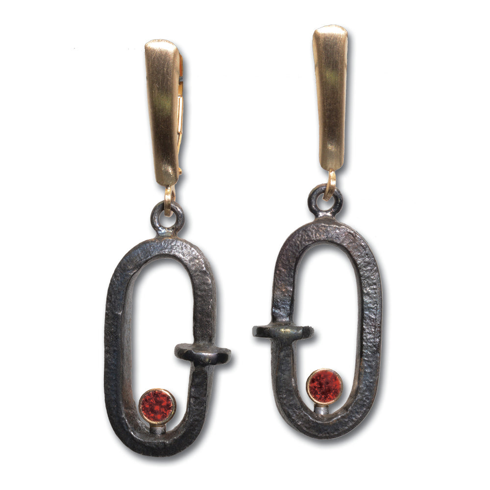 REALSTEEL — Oval Link Dangle Earrings
