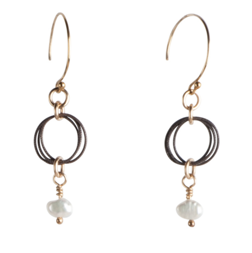 Madison Earrings-14K GF/BR S.S/KESHI PEARL