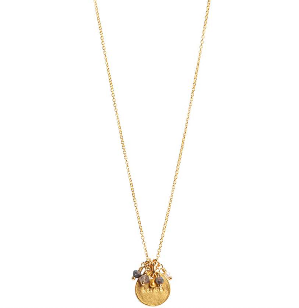 "Kendall Necklace-18""/14K Gold Fill/24K Vermeil/Multi-Stone"