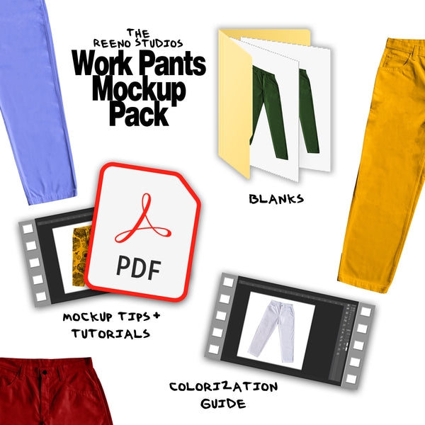 The REENO Studios Work Pants Mockup Pack