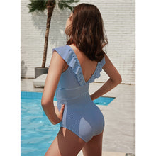 Load image into Gallery viewer, V Neck Swimsuit One Piece - High Waist