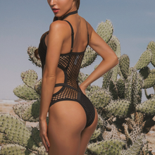 Load image into Gallery viewer, Sheer Knit Net Mesh Sexy One Piece