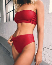 Load image into Gallery viewer, Strapless Bandeau Bikini - High Waist