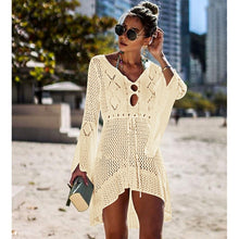 Load image into Gallery viewer, Loose Mesh Long Sleeve Cover Up