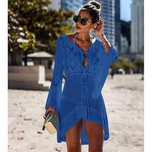 Loose Mesh Long Sleeve Cover Up
